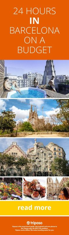 Got 24 hours and a tight budget? Let Triposo help you explore Barcelona! #Barcelona #Spain #wanderfreely