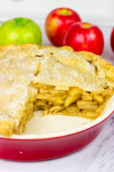Featuring a mix of tart and sweet apples, this Deep Dish Apple Pie is a new summertime favorite in our house!