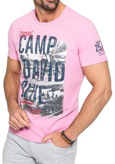 696c33ef00c115 Camp David ® T-Shirt with photoprint and logo