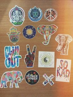 HIPPIE TUMBLR INDIE boho Ethnic colorful stickers from RonsaStickerFactory on Etsy. Saved to Want. #stickers.