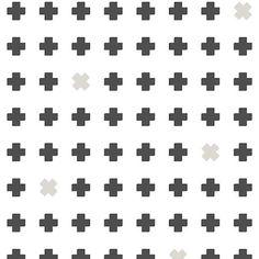 Bibelotte wallpaper behang Cross grijs antraciet - Lief en Klein