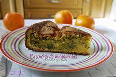 ¿Un bocadito dulce? Bizcocho de #mandarina con semillas de amapola  #cocinandoparamiscachorritos http://blgs.co/17gYFD