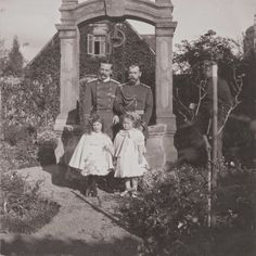Ernie and Nicky with their daughters, Princess Elisabeth - who would die at 8-yrs old- and Grand Duchess Olga