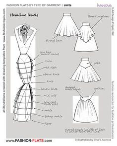 Inspiration for me to use when I'm exploring flat pattern drafting. – skirt … Inspiration for me to use when I'm exploring flat pattern drafting. Fashion Design Drawings, Fashion Sketches, Drawing Fashion, Fashion Sketchbook, Fashion Sewing, Diy Fashion, Fashion Hacks, Trendy Fashion, Fashion Ideas