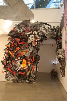 """Sam Vernon """"we have never been modern (detail I)"""" - mixed media, in installations"""