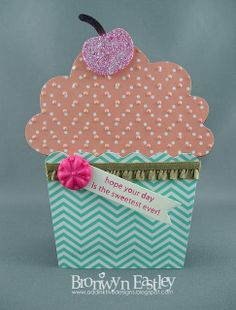 addINKtive designs: Birthday Cupcake Gift Card Holder