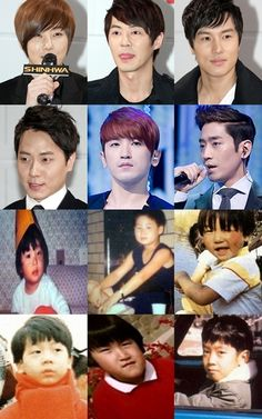 Shinhwa's childhood photos -our children will be smart and beautiful!