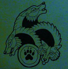 Celtic Wolf Celtic wolves by cassandra-