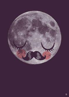 Poster meneer maan van Martin Krusche. Een van de favorieten producten uit de collectie van IPPYS!