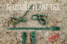 Food, Crafts & Reviews: The Outdoor Team's Multi Binder Reusable Plant Ties Review
