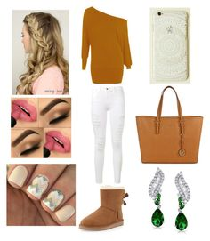 """""""Jaedah (another look for her)"""" by lashlyn on Polyvore featuring WearAll, Frame Denim, UGG Australia, Michael Kors, Bling Jewelry, women's clothing, women, female, woman and misses"""