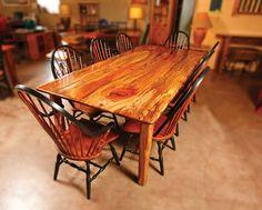 Custom Table Made Of Pecan