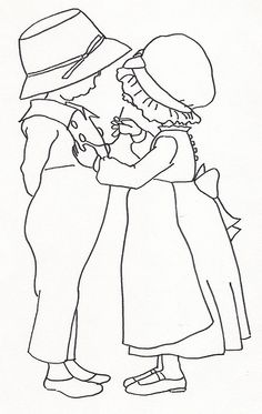 Girl Sewing Button on Boys Shirt by jeninemd, via Flickr
