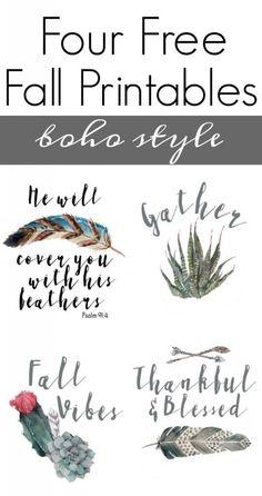 Free Boho Printables