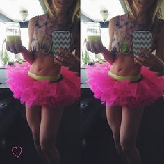 """Drinking my all natural pre-workout in my new hot pink tutu!  Just when you thought things couldn't get any weirder with my """"baby raptor"""" dance moves - now I'm adding a tutu to the mix. . My #risinglotus challenge group girls and I are doing the local (Redding/Mt. Shasta area) mud run next month and decided to be silly and do it in tutus. I've always wanted to do a mud run in a tutu... WHY NOT!? I guess I should I get my $10 worth and wear it everyday until the mud run.... . If you want to…"""