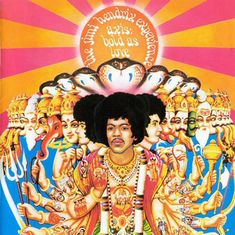 """""""English psychedelic artist and photographer Karl Ferris helped define  the aesthetics of the 1960s including designing all three of Jimi  Hendrix's albums that were released during the musician's short life.  Ferris created this cover design for Axis: Bold as Love, which Hendrix  recorded in 1967"""""""
