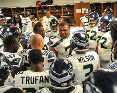 Seahawks Locker Room Picture at Seattle Seahawks Photo Store