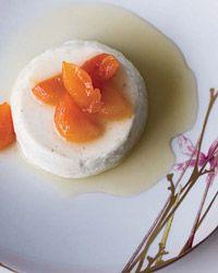 Greek Yogurt Panna Cotta With Honey-Glazed Apricots