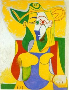 Pablo Picasso (Spanish: 1881-1973) - Woman sitting in an armchair -1962