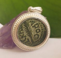 Ancient coin jewelry roman coin silver pendant certificate of authenticity by BarrDesigns on Etsy