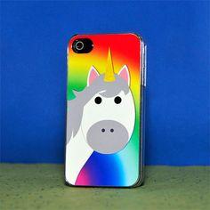 Phone Case  Rainbow Unicorn  Hard Case for iPhone by ebonypaws, $20.00