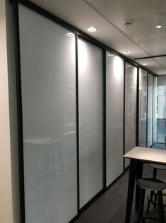 Just installed at a leading research and data analysis organisation, our horizontal sliding whiteboards are shown here with black frames and glass whiteboards. Fusion Design, White Rooms, Whiteboard, Innovation Design, Sliding Doors, Product Design, Home Office, Clever, Divider