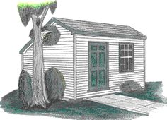 Shed Plans - THE STUDIO SALTBOX SHED PLAN 8X10 10X10 12X10 by Just Sheds Inc. - Now You Can Build ANY Shed In A Weekend Even If You've Zero Woodworking Experience!