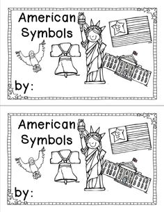 American Symbols A Few Freebies My Class Lt 3 Kindergarten Social Social Studies Activities, Teaching Social Studies, Kindergarten Social Studies Lessons, Teaching History, Student Teaching, Patriotic Symbols, American Symbols, American Songs, Emergent Readers