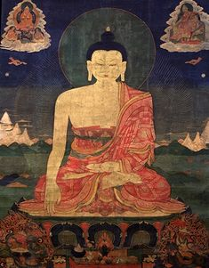 Shakyamuni Buddha - Shakyamuni - Rubin Museum of Art - Eastern Tibet Creative Arts Therapy, Art Therapy, Tibetan Buddhism, Buddhist Art, Buddha Buddhism, Montreal Museums, Thangka Painting, Georges Braque, Asian Art