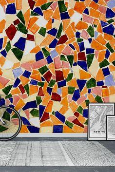 Colourful mosaics Wall Mural - Wallpaper