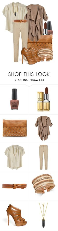 """""""Neutral & Serene"""" by i-love-shoes ❤ liked on Polyvore featuring OPI, Elizabeth Arden, Chico's, Band of Outsiders, rag & bone, Isabel Marant, INC International Concepts and Christian Louboutin"""