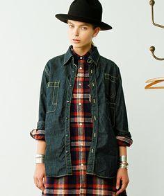 BEAMS BOYのSanca×BEAMS BOY / デニム 3ポケット ロングシャツ■です。こちらの商品はBEAMS Online Shopにて通販購入可能です。
