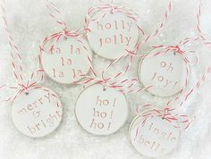 fun little wooden gift tags/ornaments