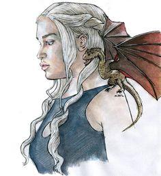 "Polubienia: 8,324, komentarze: 236 – Marta Dašić (@m.art.a) na Instagramie: ""#got #gameofthrones #gameofthronesfanart  #gotfanart  #fanart #art #daenerys #daenerystargaryen…"""