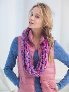 Take chunky jewelry to the next level with this Arm Knit Cowl made with Quickie, one of our newest yarns.