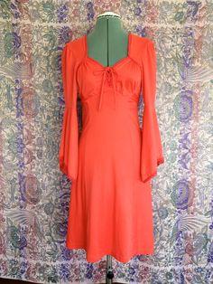 1970s Scarlet Vixen Dress size 4 via Etsy