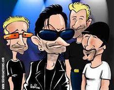 Resultado de imagem para caricaturas engraçadas astros do rock