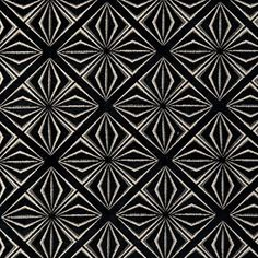"Clarke & Clarke - ""Samba"" fabric in Ebony Tarot, Clarke And Clarke Fabric, Sacred Geometry Tattoo, Traditional Fabric, Cushion Fabric, Samba, Innovation Design, Print Patterns, Upholstery"