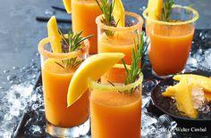 Mango-Melonen-Rosmarin-Daiquiri
