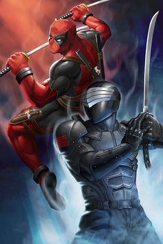 Snake Eyes vs Deadpool! by GenghisKwan on DeviantArt