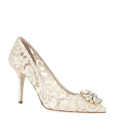 0bf9ea98766 Dolce   Gabbana Lace Rosa Embellished Pumps 90 available to buy at  Harrods.Shop women s shoes online and earn Rewards points.