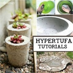 Make your own creative garden pots! Hypertufa is made from a combination of cement and natural fillers to create rustic, lightweight garden pots, troughs, planters, and other projects including sculptures. I'll give you the basics to get started plus some good resources for various DIY tutorials. #gardeningbasics