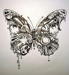 ... Butterflies Butterflies Doodles Awesome Tattoo Butterflies Tattoo