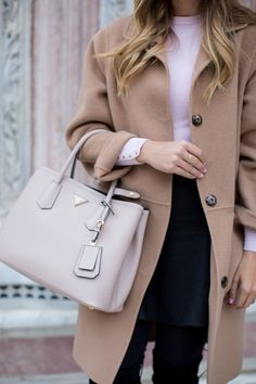 Blush, camel & black  - Gal Meets Glam