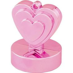 6 x Magenta Pink Gift Box Shaped Solid Balloon Weight 110g