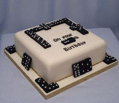 Domino Cake Cake Ideas Pinterest Cake Birthdays and Puerto ricans