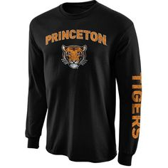 Princeton Tigers New Agenda Distressed Arch & Logo Long Sleeve T-Shirt - Black