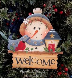 #714 Snowman Welcome