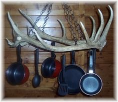 Elk Antler Pot Rack