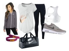 """Sporty"" by sarah-clarke-sr on Polyvore featuring NIKE, women's clothing, women, female, woman, misses and juniors"